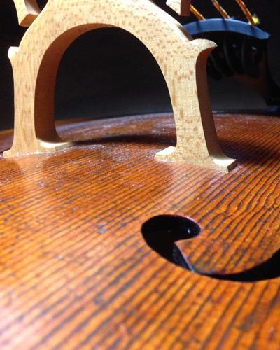 Bridge on violin