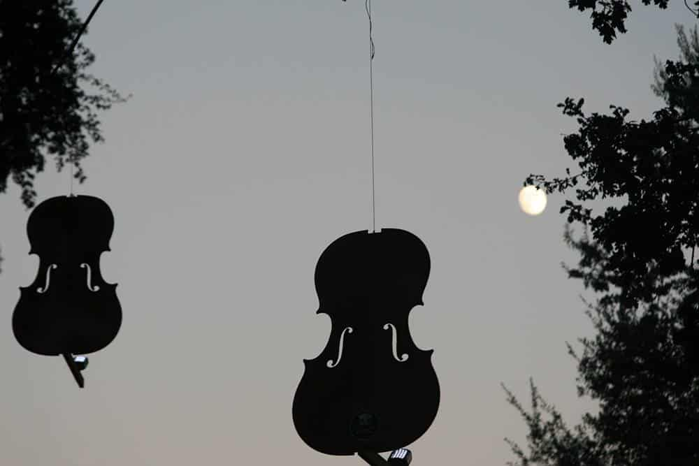 Sky Cello mobile created by violinmaker Andrew Carruthers (1957-)