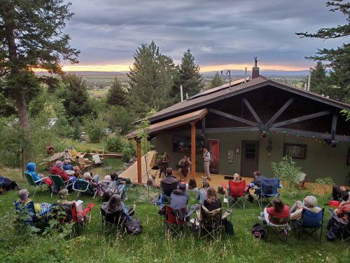 Backyard Baroque at Carrie Krause's home in the Hyalite foothills south of Bozeman