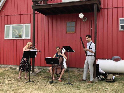 Carrie Krause, Annabeth Shirley, Nate Helgesen at the Red Barn in White Sulphur Springs