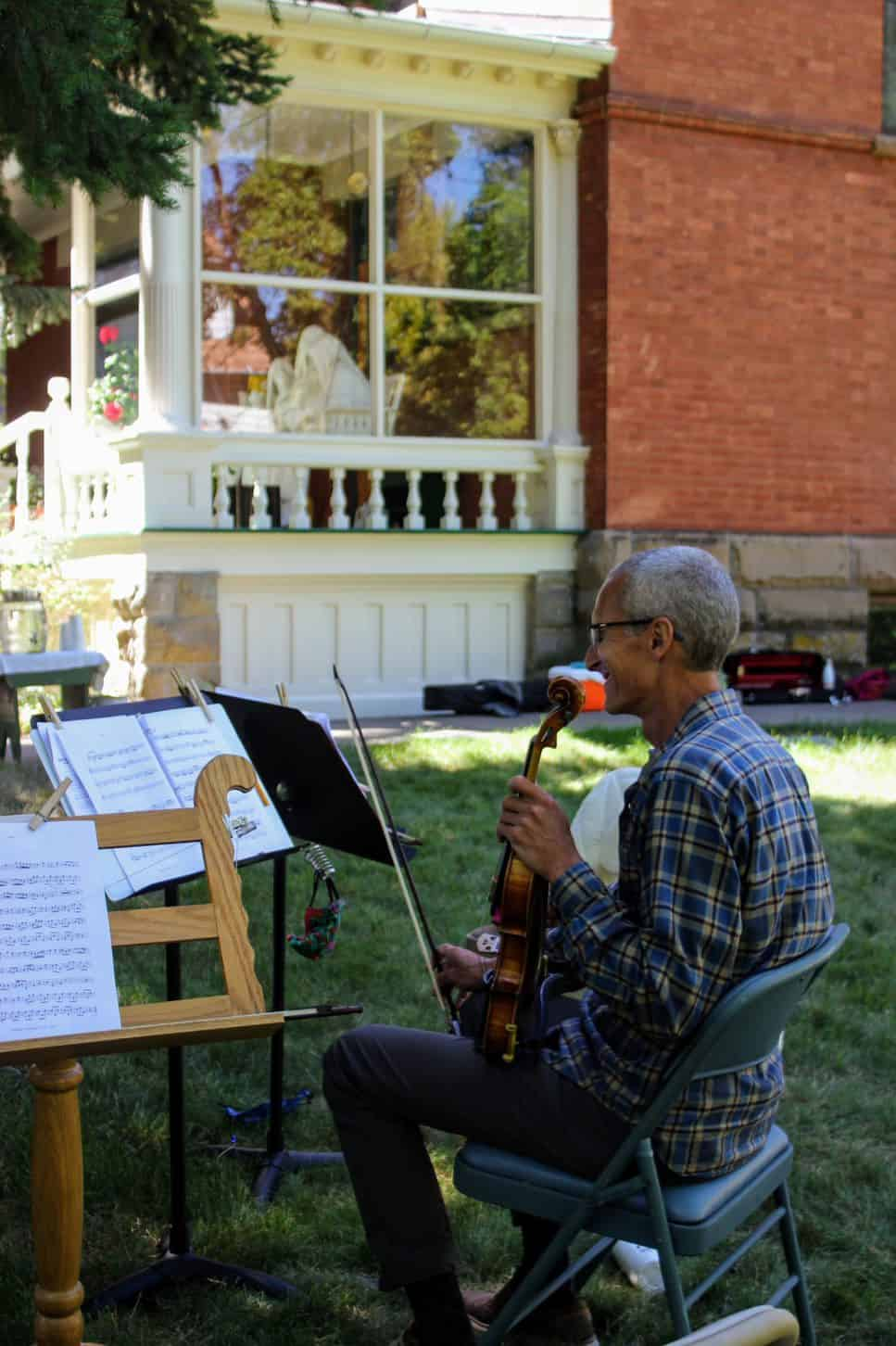 Period Performance Workshop participant at the Campeau House (photo courtesy of Bozeman Symphony)